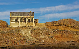 Deserted building. Deserted ruin of building on Halifax island Stock Image