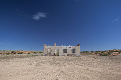 Deserted building in the Kalahari Royalty Free Stock Photos