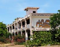 Deserted Building At Playa del Este Cuba Stock Photo