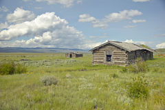 Deserted cabin in Centennial Valley, near Lakeview, MT Stock Image