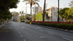 Deserted city street stock video