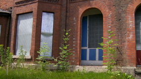 Deserted community houses stock footage
