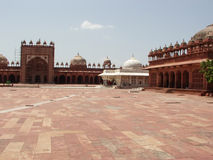 Deserted courtyard of Fatehpur Sikri. Fatehpur Sikri is an Islamic religious place near New Delhi , India. This palace was built by the Mughals Royalty Free Stock Photography