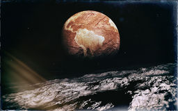 Deserted Earth From The Moon Royalty Free Stock Photography