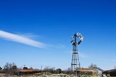 Deserted Farm in Windswept Desert Stock Photography