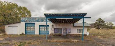 Deserted gas station, Chama New Mexico. OCT 8, 2018, CHAMA NEW MEXICO, USA - Deserted gas station, Chama New Mexico stock photos