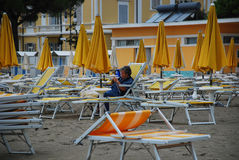 Deserted Grado Beach Royalty Free Stock Image