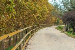 Deserted gravel hiking path Stock Photo