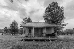 Deserted home, Chama New Mexico. OCT 8, 2018, CHAMA NEW MEXICO, USA - Deserted home, Chama New Mexico - black and white royalty free stock photo