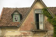 Deserted home near Sintra, Portugal royalty free stock images