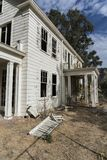 Deserted Home between Oak View and Ventura California on Santa Anna. Up, Damaged stock images