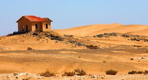 Deserted house. In the Namib desert close to Kolmanskoppe Stock Photography