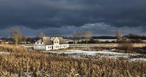 Deserted house on Funen, Denmark Stock Image