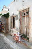 Deserted house in Pyrgos, Greece Royalty Free Stock Image