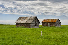 Deserted houses in ghost town Dorothy Stock Photography