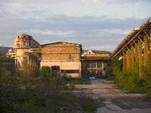 Deserted Industrial Plant Royalty Free Stock Images