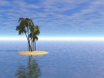 Deserted island Illustration Royalty Free Stock Image