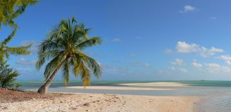 Deserted island and lagoon in the Pacific Stock Photo