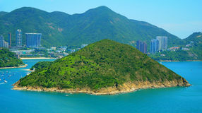 Deserted island at sea. Tropical deserted island at sea. location : hong kong Royalty Free Stock Photography