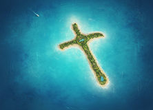 Cross Island Royalty Free Stock Image