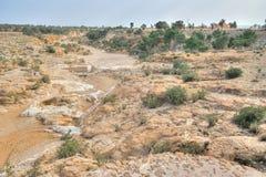 Deserted land around  Sbeitla Royalty Free Stock Image