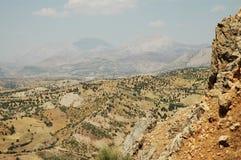 Deserted landscape in Kurdistan, East Turkey. Deserted landscape with small village in Northern-Kurdistan, East Turkey Stock Image
