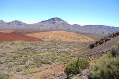 Deserted landscape of teide national park on tener Royalty Free Stock Images