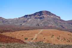 Deserted landscape of teide national park on tener Stock Photo
