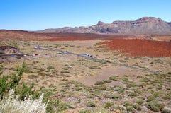Deserted landscape of teide national park on tener Stock Photo