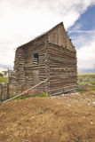 Deserted log building in Dillon, MT Royalty Free Stock Image