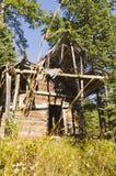 Deserted log cabin Stock Images