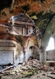 Deserted medieval church basement Stock Image