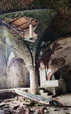 Deserted medieval church basement Stock Photos
