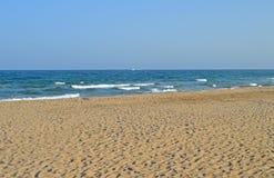 A Deserted Mediterranean Beach Royalty Free Stock Image