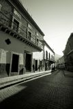 Deserted Mexican street Stock Photography