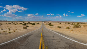 Deserted Mojave California Road Stock Photography
