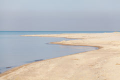 Deserted morning seascape at summer Stock Photos