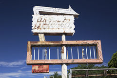 Deserted Motel Sign, Americana, Colorado, USA Royalty Free Stock Photos