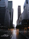 Deserted New York streets during hurricane Irene Royalty Free Stock Image