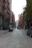 Deserted NYC Street After Hurricane Sandy Stock Photo