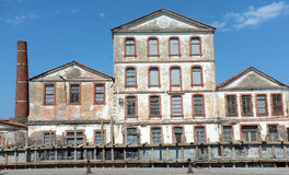 Deserted old factory Royalty Free Stock Photo