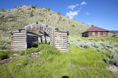 Deserted old prairie log cabin in Centennial Valley near Lakeview, MT Royalty Free Stock Photos