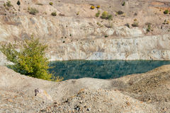 Deserted opencast mine Stock Image