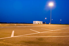 Deserted parking lot royalty free stock photo