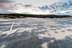Cape Cod in November. Deserted parking lot by the beach, Cape Cod, Massachusetts stock photography