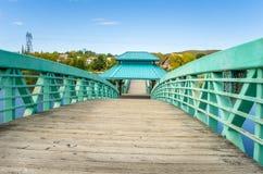 Deserted Pedestrian Bridge Stock Images