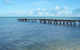 Deserted pier. On the black sea coast Royalty Free Stock Photo