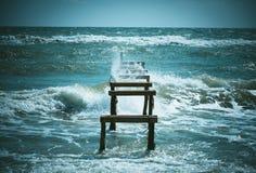 Deserted pier Stock Images