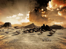 Deserted planet Stock Images