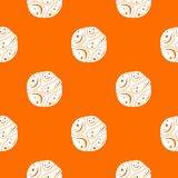 Deserted planet pattern seamless. Deserted planet pattern repeat seamless in orange color for any design. Vector geometric illustration stock illustration